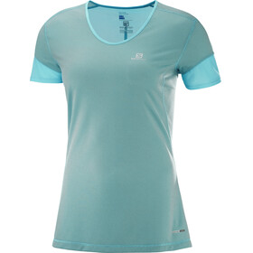 Salomon Trail Runner Running T-shirt Women turquoise